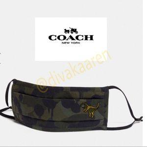 COACH Rexy Camo Face Mask w/ Wild Beast Logo